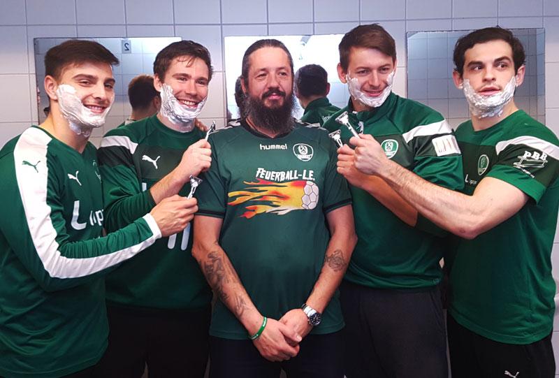 DHfK-Handballer unterstützen MOVEMBER